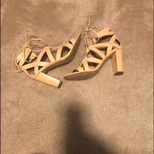 Banana Republic Lace Up Heeled Sandals